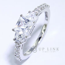 925 Sterling Silver White Cubic Zirconia CZ Fashion Rings For Women Gift