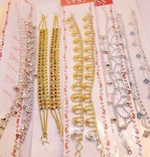 PAIR OF NEW STUNNING PAYAL ANKLET ANKLE CHAIN INDIAN BOLLYWOOD