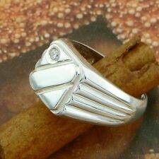 STERLING SILVER  RING WITH STONES SOLID.925 /NEW JEWELERY  SIZE J - U