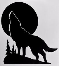 Wolf Howling Moon Silhouette Car Truck Window Vinyl Decal Sticker Choose Color