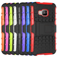 For HTC One M9 Case Hybrid Dual Layer Defender Protective Armor stand Cover