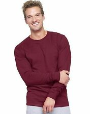 2 - Hanes Adult Beefy-T Long-Sleeve T-Shirts ASSORTED COLORS Sizes S - 3XL Best