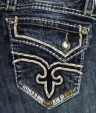 Womens Rock Revival Jeans Kailyn Big Stitch Bootcut 24 25 26 27 28 29 30 31 32