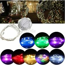 1/2/3M Silver Wire LED String Fairy Petals Light Party Xmas Tree Wedding Decor