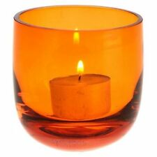 NEW Casa Uno Glass Tea Light Holder in Green, Orange, Red