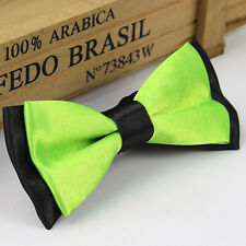 Hot Solid Color Two Tone Mens Bowtie Men Tuxedo Bow Tie For Wedding Formal Party