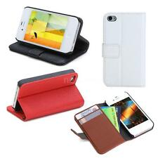 Wallet Case Flip Leather Stand Cover+Card Holder for iPhone 4 4s 4g Durable G0XL