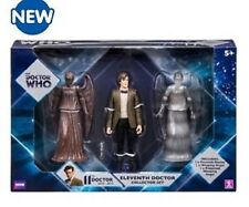 DR WHO MATT SMITH 11th DOCTOR COLLECTOR SET 3 FIGURES WEEPING ANGEL PROJECTED