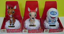 Rudolph  Red-Nosed Reindeer, Clarice or  Bumble Solar Bobbler Bobble New