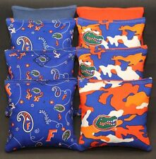 ALL WEATHER University of Florida Gators Cornhole Bean Bags 8 Resin Filled Bags