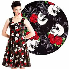 Hell Bunny Rock & Ruin Dress Rockabilly Pin Up Gothic Punk Skulls Horror