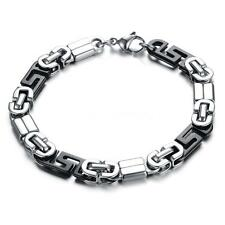 Men Classical 316L Stainless Steel Bangle Bracelet Chain Fashion Jewelry HU8H