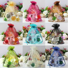 100Pcs Sheer Jewelry Candy Organza Pouch Xmas Decoration Wedding Favor Gift Bag