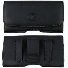 Leather Sideways Belt Clip Case Pouch Cover Holster For Nokia Cell Phones