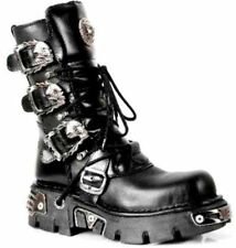 NEWROCK New Rock M.391-S1 Black Boot Metallic Punk Reactor Goth Bikers Boots