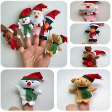 Funny 5pcs Santa Claus Snowman Finger Puppets Toy Doll Baby Stories Helper