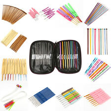 Various of Aluminum Metal Plastic Bamboo Crochet Hooks Knitting Needles Set SDE