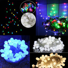 10M 100 LED Round Ball String Fairy Lights Christmas Wedding Party Bar Lighting