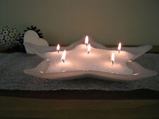 Elegance Wax Crystals +10 Free Wicks Pure White Wedding Table Idea Candle Gift