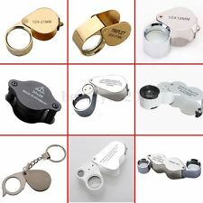 Glass Magnifying Magnifier Jeweler Eye Watch Repair Jewelry Loupe Loop LED Light