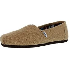 Toms Women's Classic Burlap Low Top Canvas Flat Shoe