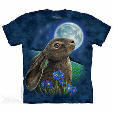 The Mountain Moon Gazer Rabbit Bunny Animal Flowers Wilderness Tee Shirt S-5Xl
