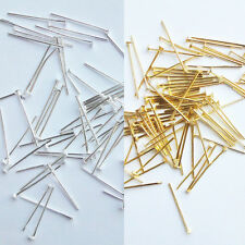 200P Silver/Gold Plated Head Pins 16mm Findings Craft Beading Metal Flat SDE