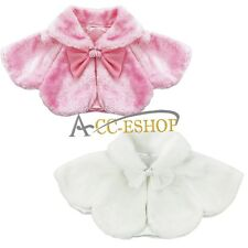 Infant Baby Girl Winter Bolero Shrug Jacket Coat Outwear Christmas Dress Up Cape
