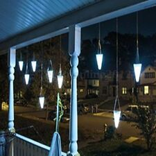 Colour Solar Night Lights Cornet Cone LED Lamp Hanging Tree Outdoor Party Xmas