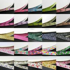 "12, 18 mixed style 3/8"" 9mm YAMA Flower, Bees Printed Grosgrain Ribbon meters"