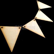 Unfinished Wood Triangle Bunting Wedding Xmas Plaque Craft Blank Embellishment