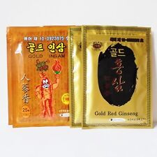 x 4 packs 2kind Gold Red Ginseng Plaster, Pads,Tape, Healthy Patch Pain Relief