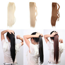 Women Long Big Horsetail Hair Extension Straight Make Up Ponytail Hairpiece