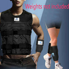 Zooboo 44LBS/20KG Adjustable Weighted Vest Hands Leg Wrist Training (Empty)