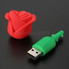 Cute 2GB-32GB Red Flower Design USB 2.0 Flash Pen Drive Memory Stick U Disk Gift