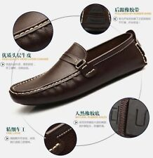 4Color US Size 6-11 New Basic Leather Mens Driving Moccasin Loafer Casual Shoes