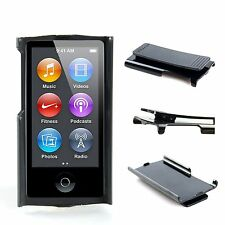 Smooth hard candy case with belt clip skin cover for Apple ipod nano 7 7th gen