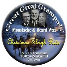 "Mustache & Beard Wax - Leather, Pine and More - ""Christmas Sleigh Ride"" Blend"