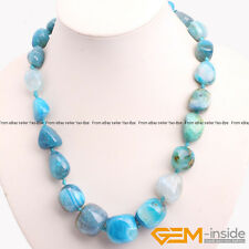 Handmade Freeform Assorted Stone Beaded Necklace 18-19 Inches XMAS Jewelry Gift