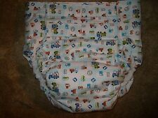Dependeco All In One flannel adult baby diaper S/M/L/XL (cars and trucks)