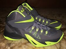 NEW Youth 3.5 5.5 7 NIKE LeBron Zoom Soldier VIII Basketball Shoes Sneakers Grey