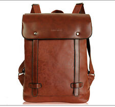Women's Leather Vintage Travel Shoulder Backpack rucksack Bookbags Laptop bag