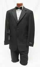 New 46 XL Mens Black 2 Button Notch Tuxedo Jacket w/ Pants Packege Prom Outfit