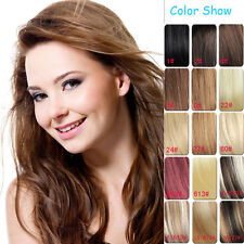 "Hair Extensions Full Head Clip in 100% Remy Human Hair 14""-30"" 7pcs"
