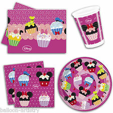 Disney Minnie Mouse Sweet Treats Pink Party Plates Napkins Tableware Listing