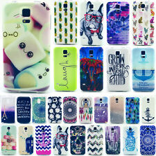 TPU Rubber Back Cover Skin Printed Silicone Case for Samsung Galaxy S3 S4 S5