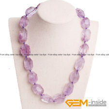 Handmade Natural Amethyst Beaded Necklace Christmas Jewelry Gift 17-19 Inch Pick
