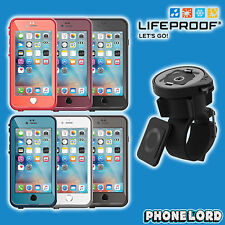 Genuine Lifeproof Fre waterproof case and Lifeactiv bar mount iPhone 6 6s plus