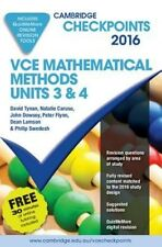 NEW Cambridge Checkpoints VCE Mathematical Methods Units 3 and 4 2016 and Quiz M