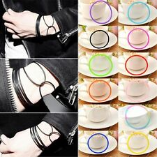 10 pcs gummy bands bracelets gummy wristband bangle jelly rubber shag bands
